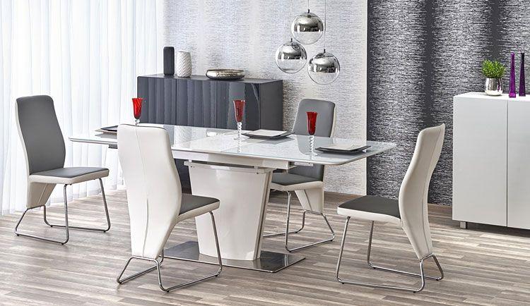 Nowoczesne popielate krzesło do stołu Migen