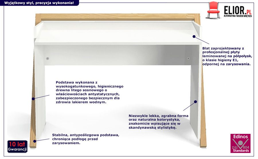 Skandynawskie biurko Corto - modne