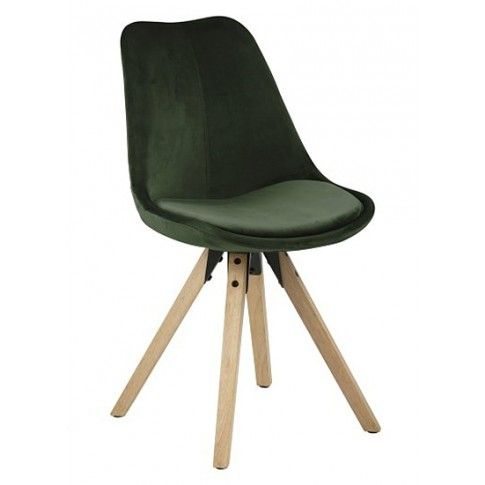 Zdjęcie produktu Krzesło vintage Oscar - ciemnozielone.