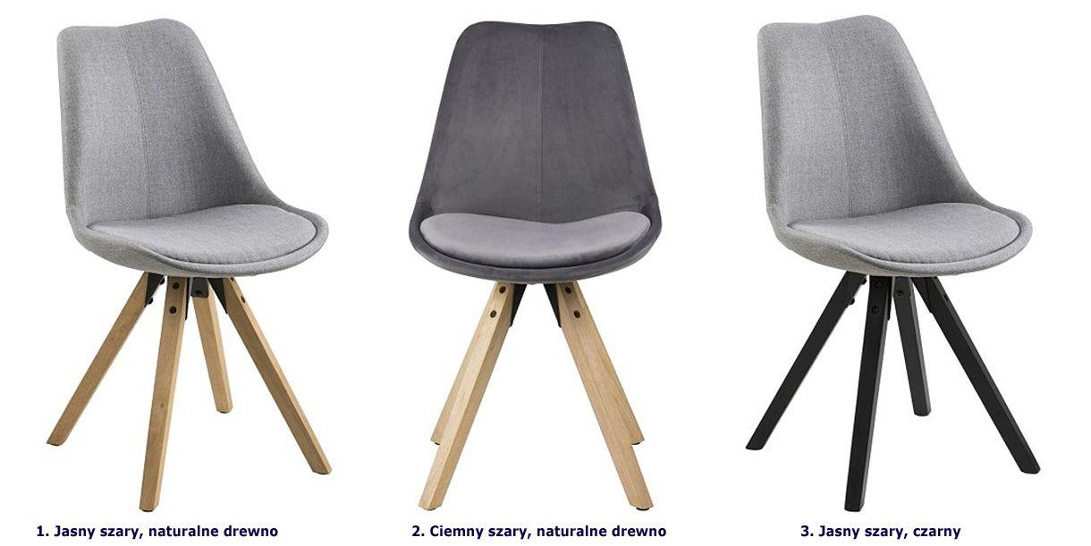 Modne krzesło Oscar 2X - skandynawskie