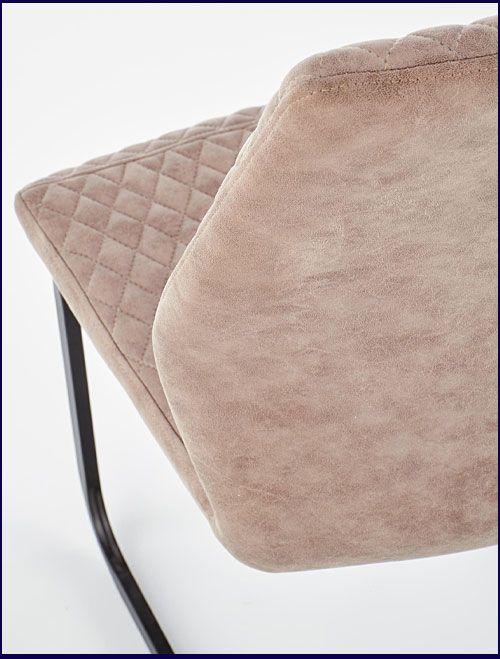 Beżowe krzesło tapicerowane do loftu Erfix