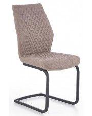 Krzesło pikowane Erfix - beżowe w sklepie Edinos.pl