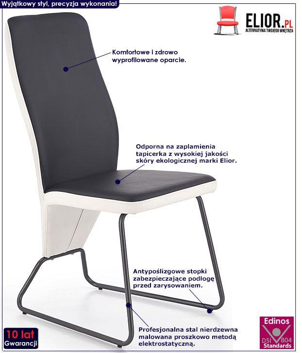 Czarne krzesło kuchenne do stołu Asper