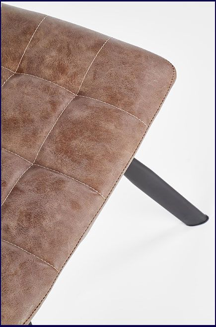 Brązowe krzesło w industrialnym stylu Danton