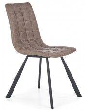 Krzesło pikowane Danton - brązowe w sklepie Edinos.pl