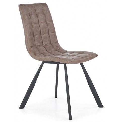 Zdjęcie produktu Krzesło pikowane Danton - brązowe.