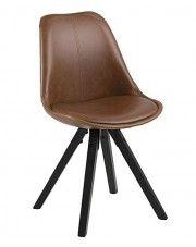 Krzesło vintage Oscar 3X - brązowe