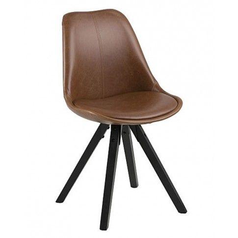 Zdjęcie produktu Krzesło vintage Oscar 3X - brązowe.