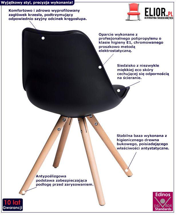 Nowoczesne krzesło Netos 4X - czarne