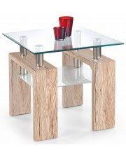 Kwadratowy stolik Karis 2X - dąb san remo