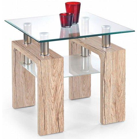 Zdjęcie produktu Kwadratowy stolik Karis 2X - dąb san remo.