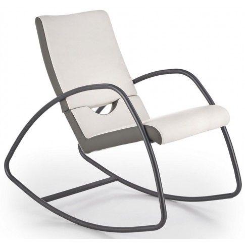 Zdjęcie produktu Fotel bujany Dixon - biały + popiel.