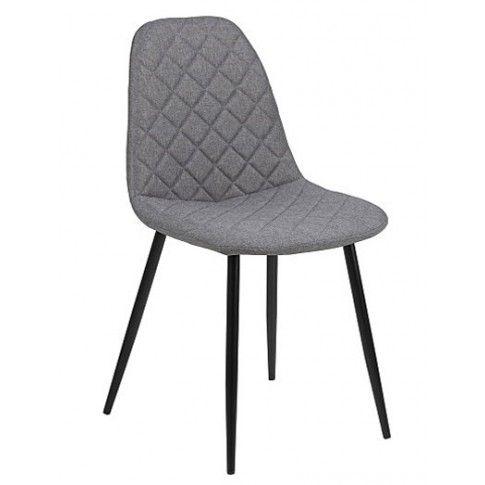 Zdjęcie produktu Krzesło tapicerowane Velio - szare.