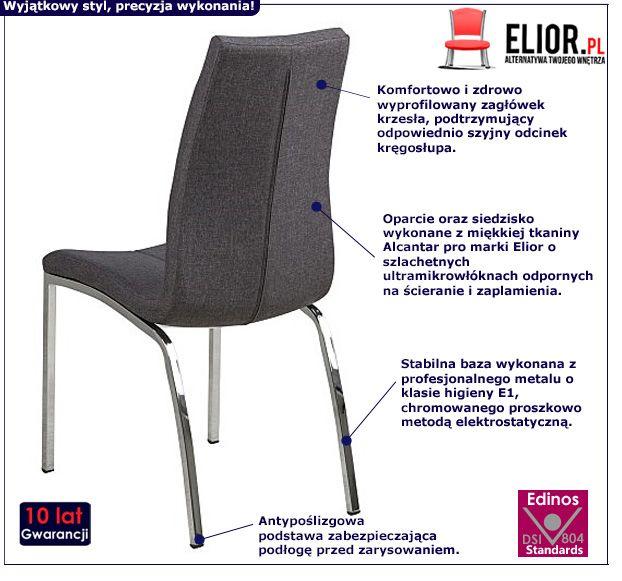 Modernistyczne krzesło Velto - szare