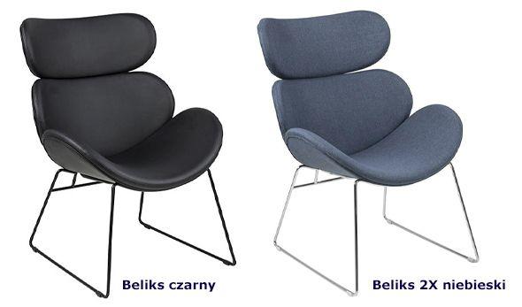 Nowoczesne fotele Beliks - komfortowe