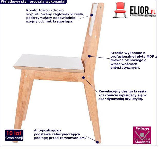 Skandynawskie krzesło Idylio - olcha