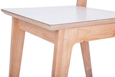Modne krzesło Idylio - białe