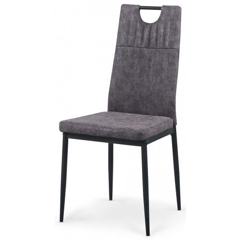 Zdjęcie produktu Krzesło tapicerowane Levin - popielate.
