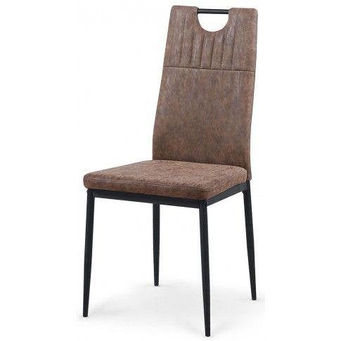 Zdjęcie produktu Krzesło tapicerowane Levin - brązowe.