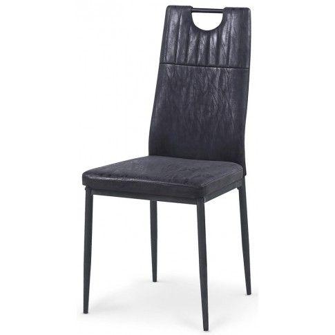 Zdjęcie produktu Krzesło tapicerowane Levin - czarne.