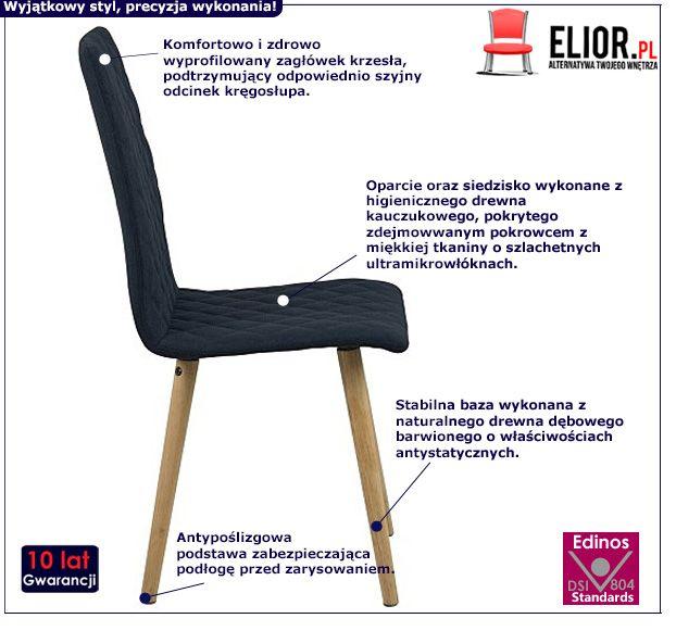 Stylowe krzesło Aeros - granatowe