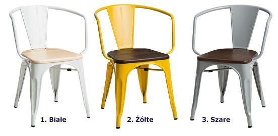 Stylowe krzesło Kimmi - loftowe