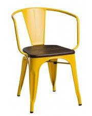 Krzesło loftowe Kimmi - żółte w sklepie Edinos.pl
