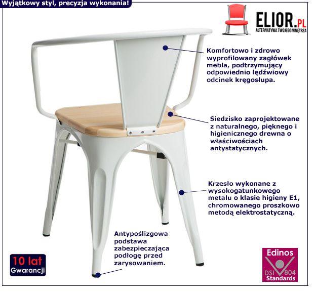 Modne krzesło Kimmi - białe