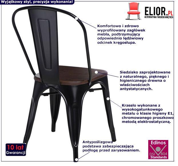 Nowoczesne krzesło Kimmi 2X - czarne