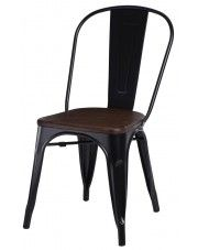 Krzesło loftowe Kimmi 2X - czarne