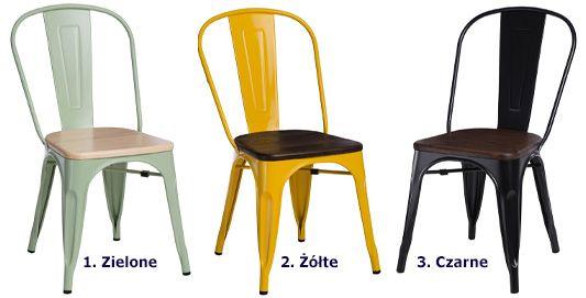 Industrialne krzesło Kimmi 2X - loftowe