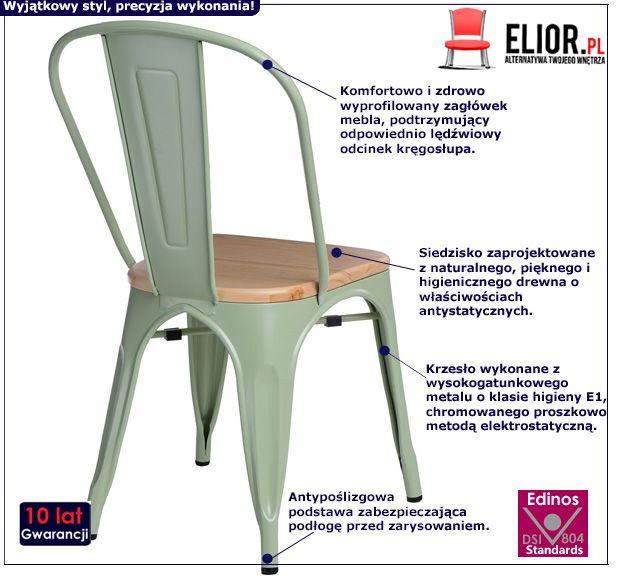 Nowoczesne krzesło Kimmi 2X - zielone