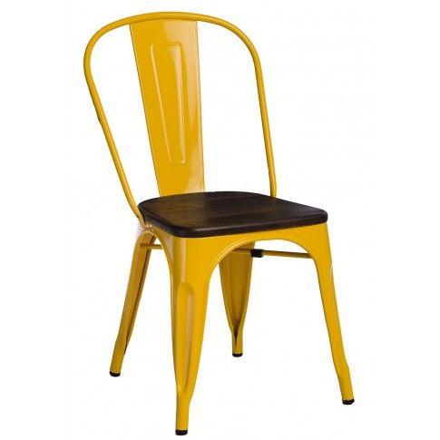 Zdjęcie produktu Krzesło loftowe Kimmi 2X - żółte.