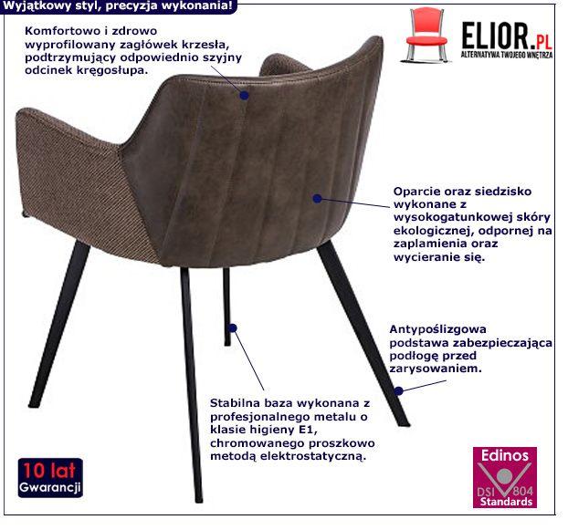 Retro krzesło Belis -brązowe
