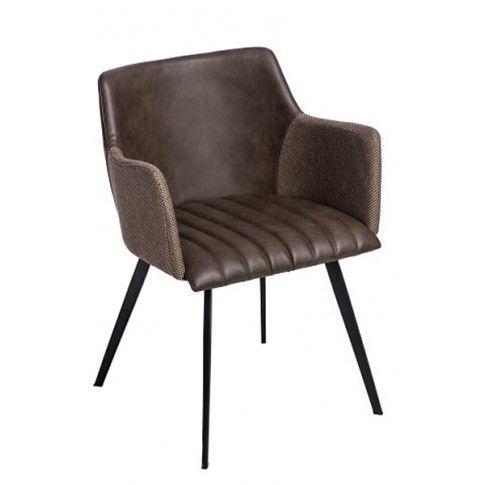 Zdjęcie produktu Krzesło vintage Belis - brązowe.