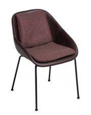 Krzesło vintage Epir - brązowe w sklepie Edinos.pl