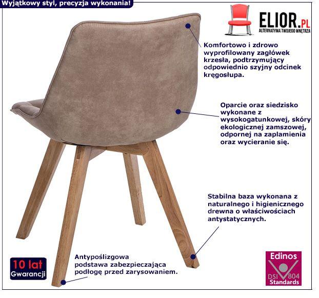Modernistyczne krzesło Albi - beżowe