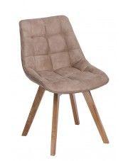 Krzesło pikowane Albi - beżowe w sklepie Edinos.pl