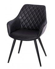 Krzesło pikowane Horus - czarne