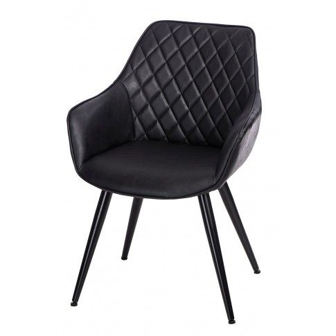 Zdjęcie produktu Krzesło pikowane Horus - czarne.