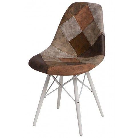 Zdjęcie produktu Fotel patchwork Loko - brązowy + biały.