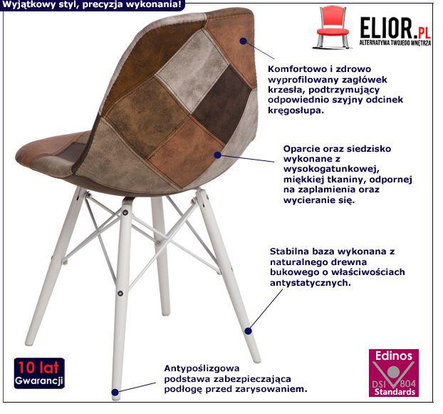 Stylowy fotel Loko - brązowy