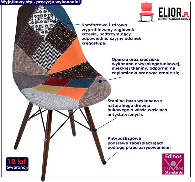 Modny fotel Loko - kolorowy