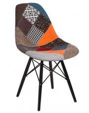 Fotel patchwork Loko - wielobarwny + czarny