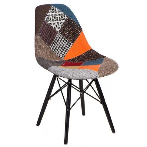 Zdjęcie produktu Fotel patchwork Loko - wielobarwny + czarny.