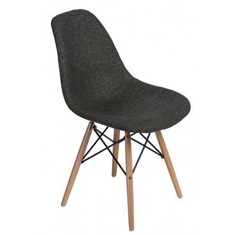 Zdjęcie produktu Fotel Loko - szary + naturalne drewno.