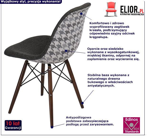 Modernistyczny fotel Loko - szary