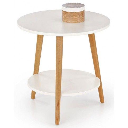 Zdjęcie produktu Drewniana ława Kori - biała.