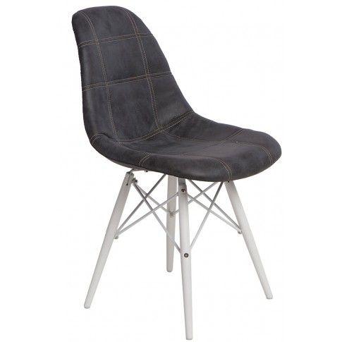 Zdjęcie produktu Pikowany fotel Roks - grafitowy.