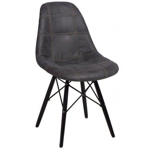 Zdjęcie produktu Pikowany fotel Roks - grafit.